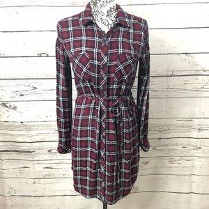 Rails Bianca Plaid Button Up Shirt Dress Small